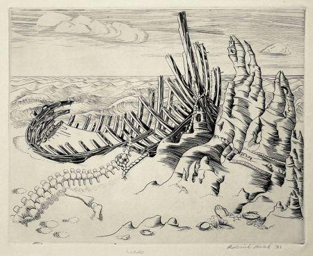 エッチング Mead - Wreck (Wreck on Shore; Wrecked Ship)