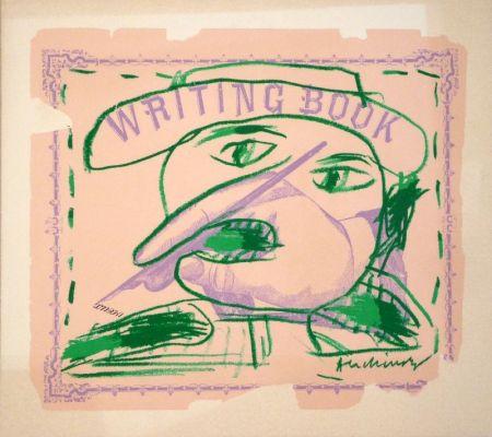 リトグラフ Alechinsky - Writing Book