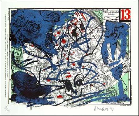 リトグラフ Alechinsky - XIIIe Arrondissement