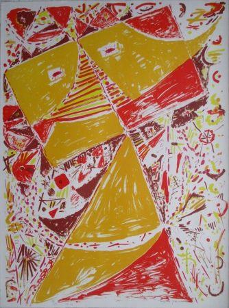リトグラフ Jacobsen - Yellow Mask