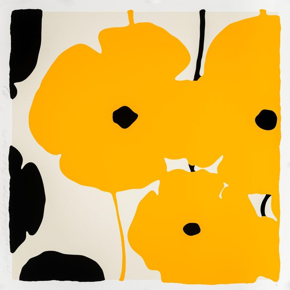 シルクスクリーン Sultan - Yellow Poppies