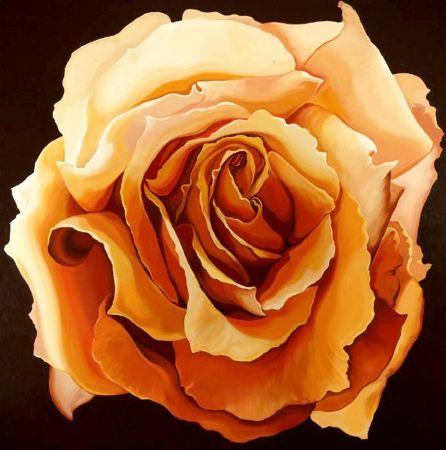 シルクスクリーン Nesbitt - Yellow Rose
