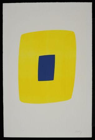 リトグラフ Kelly - Yellow with Dark Blue VI.12