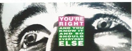 シルクスクリーン Kruger - You're right