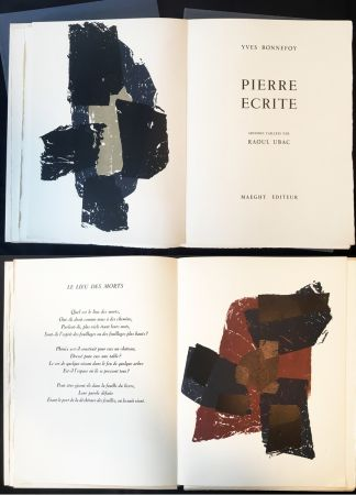 挿絵入り本 Ubac - Yves BONNEFOY . PIERRE ÉCRITE. Ardoises taillées par Raoul Ubac