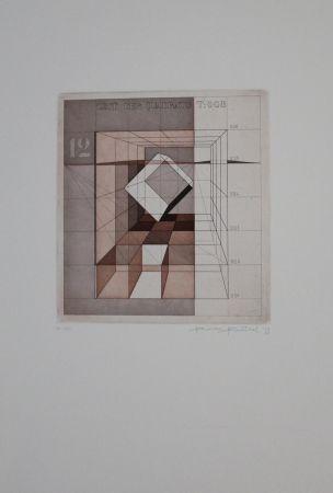 エッチングと アクチアント Heintschel - Zeit der Quadrate