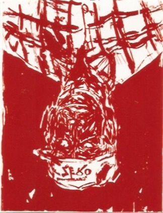 木版 Baselitz - Zero for the painter