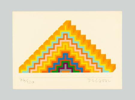 シルクスクリーン Tilson - Ziggurath