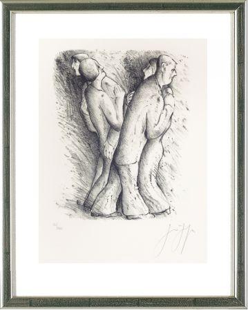 リトグラフ Grass - Zwei tanzende Paare